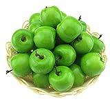 Moving Box 50pcs Artificial Lifelike Simulation Small Green Apples Set Decoration Fake Fruit Home House Kitchen Decor