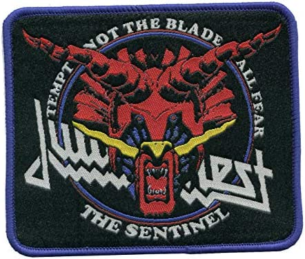 """Judas Priest~Patch~Embroidered~5 1//4/"""" x 2/""""~Iron or Sew on~Heavy Metal Rock"""
