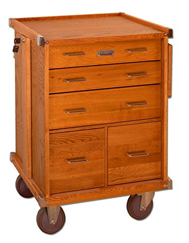 Gerstner International GI-R20 Red Oak 5-Drawer Rolling Cabinet ()