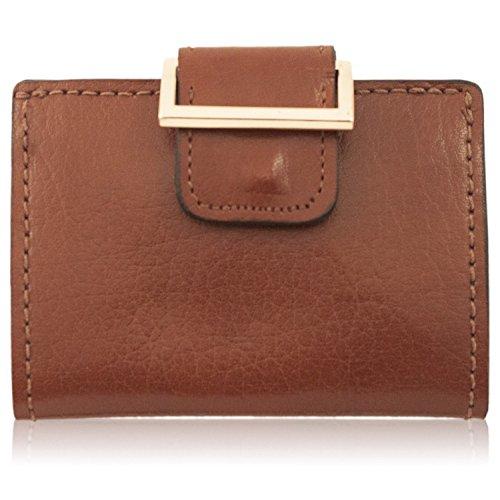 (Women's Handmade Brown Water Buffalo Leather Wallet)