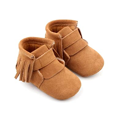 addfbd377c471 Amazon.com | Starbie Brown Baby Boots, Baby Winter Boots, Suede ...