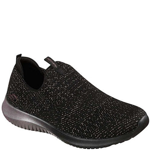 Women's Black Skechers Gold Rose Flex Ultra Sneaker Metamorphic TFqSp