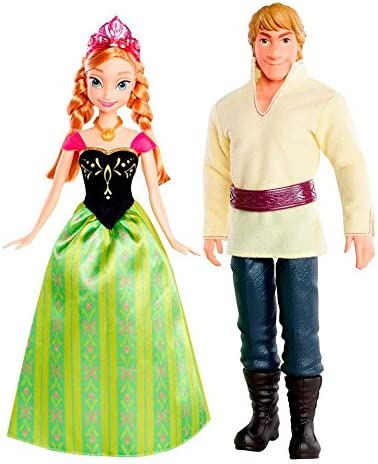 Disney/'s Frozen 2 Anna and Kristoff Romance Twin Doll Pack