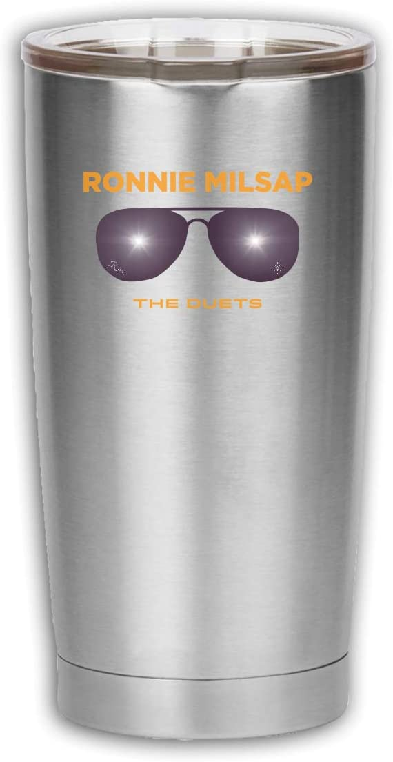 Ronnie Milsap Stainless Steel Coffee Cup Insulated Travel Car Cup, With Lid Reusable Coffee Cup, Vacuum Flask