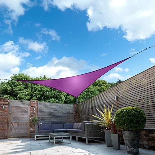 Kookaburra Waterproof Sun Sail Shade Purple – 16ft 5 Triangular