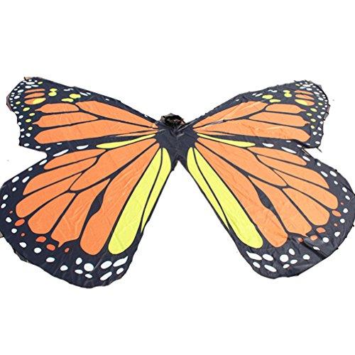 DEMON BABY Children's Angel Orange Belly Dance Isis Wings Butterfly Wings Halloween (No Sticks)