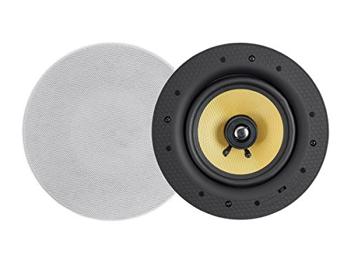 Monoprice Caliber 60-Watt Powered 6.5in Ceiling Speakers Fiber 2-way with Bluetooth by Monoprice