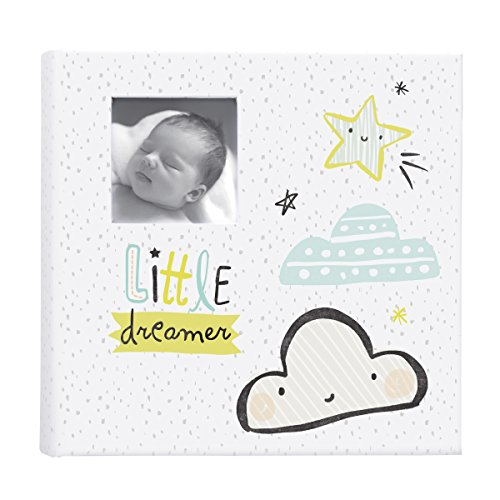 C.R. Gibsons Moon and Stars Baby Photo Album Baby Gift, 1.8 x 9 x 8.9 inches, 80 Pages