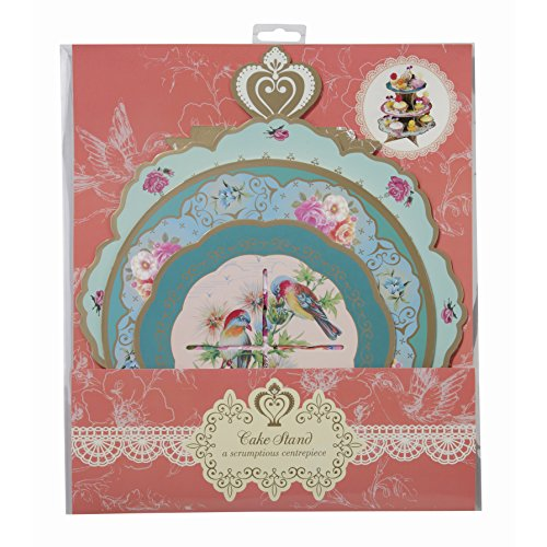 Talking Tables Truly Scrumptious Floral Cake Stand (3 Tier) for a Tea Party, Wedding or Birthday, Multicolor by Talking Tables (Image #5)