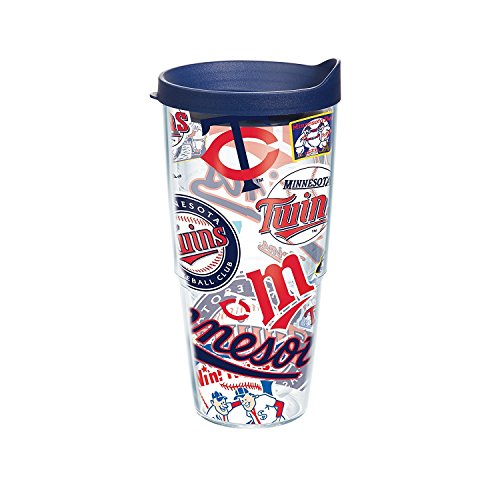 Tervis MLB Minnesota Twins All Over Tumbler with BL3 Travel Lid, 24 oz, Clear