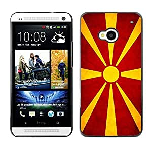 Shell-Star ( National Flag Series-Macedonian ) Snap On Hard Protective Case For HTC One (M7)