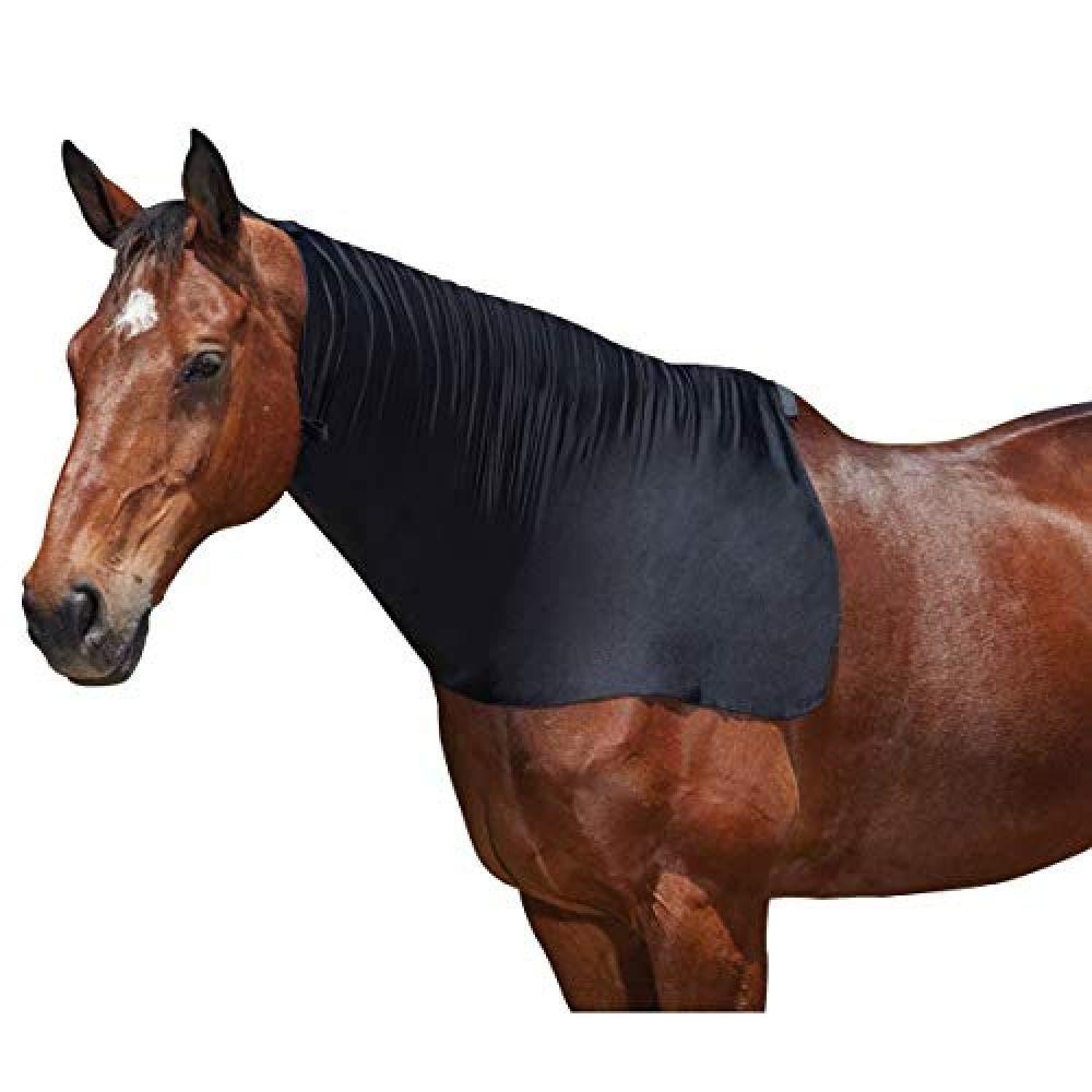 Estiramiento Weatherbeeta cuello alfombra negra del potro, mazorca o completos