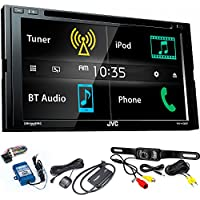 JVC KW-V430BT 6.8 BT/DVD/CD/AM/FM Car Stereo with SiriusXM Tuner, Back Up Camera, Steering Wheel Control Interface