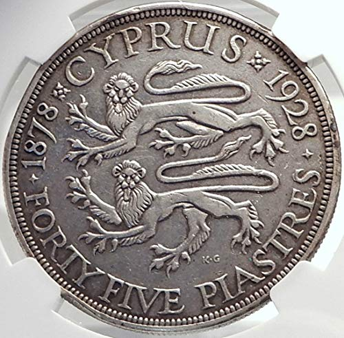 1928 CY 1928 CYPRUS 50th Anniversary UK King George V AR coin VF DETAILS NGC