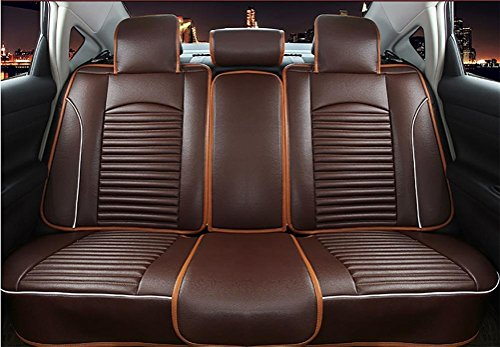 Programmable luxury leather seat covers car seats 5 Overall universal fit easy to clean anti-slip Four Seasons Car Seat Cushion by YAOHAOHAO (Image #1)