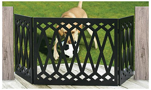 "Cheap Adjustable Extra Wide Pet Gate – 48"" Freestanding Dog Gate – Pet Fence Diamond"