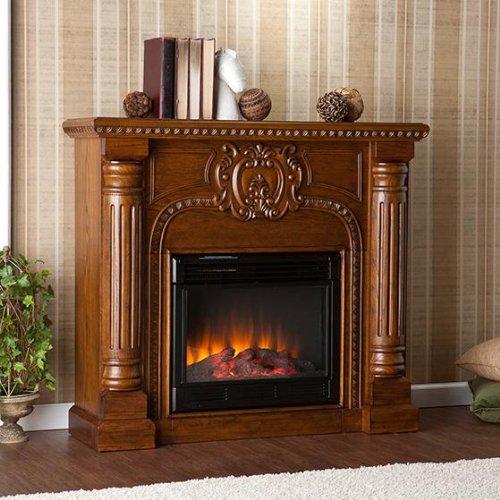 Antique Oak Electric Fireplace (Romano Electric Fireplace - Salem Antique)