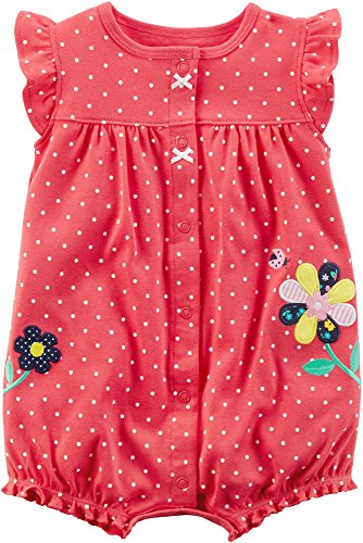 - Carter's Baby Girls' Dot Flower Romper 3 Months