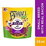 Purina Beggin' Made in USA Facilities Small Breed Dog Treats, Littles Original With Bacon - 25 oz. Pouch