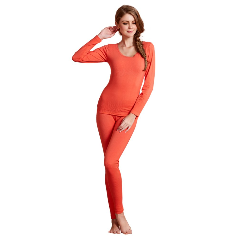PLMWQAVDFN Thick cashmere ladies plus warm clothing/Thermal underwear suits/Fall clothing long Johns-C One Size