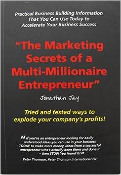 Book The Marketing Secrets of a Multimillionaire Entrepreneur