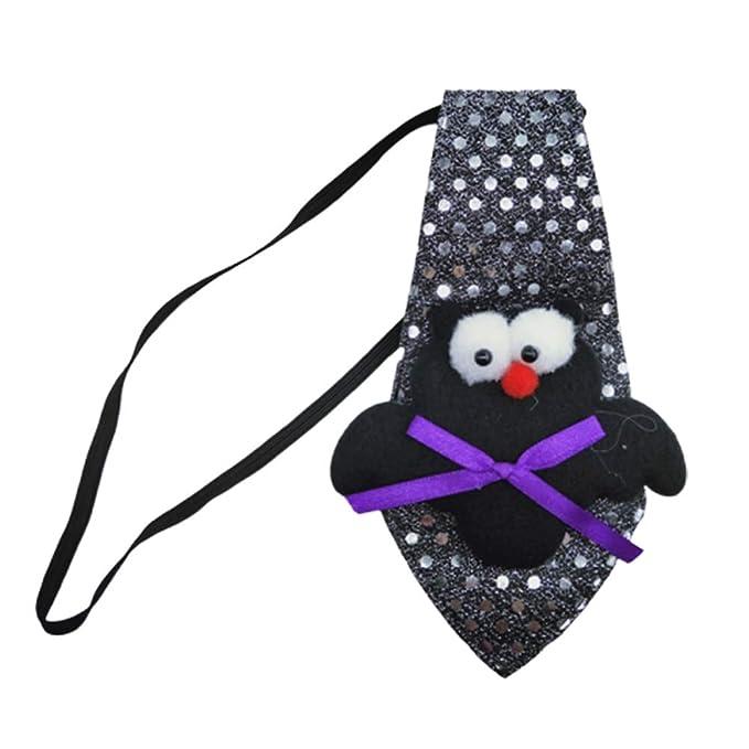 Corbata collar con murciélago para fiesta de Halloween.