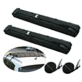 Motor Tech Universal Car Soft Roof Rack Luggage Carrier Surfboard Paddleboard Anti-vibration w/ Adjustable and Heavy Duty Straps