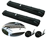 IZTOSS Motor Tech Universal Car Soft Roof Rack Luggage Carrier Surfboard Paddleboard Anti-vibration w/Adjustable and Heavy Duty Straps
