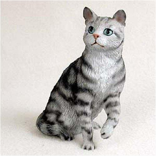 Conversation Concepts Shorthair, Silver Tabby Original Cat Figurine (4in-5in) (Original Cat Figurine)