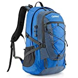 Gonex 40L Backpack for Hiking Camping Outdoor Trekking Daypack, Waterproof Backpack Cover included (Blue)