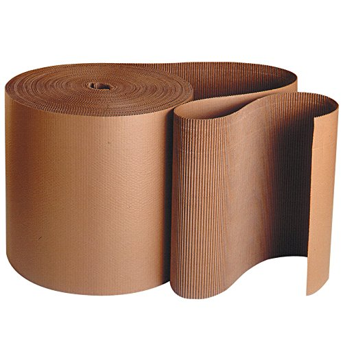 Top Pack Supply Singleface Corrugated Roll, B-Flute, 24'' x 250', Kraft (Pack of 1 Roll) by Top Pack Supply