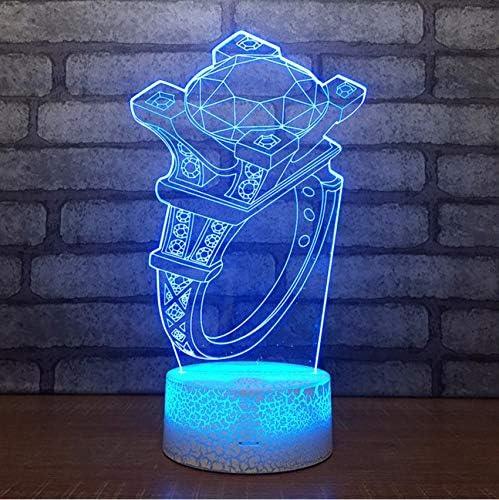 Lampada da tavolo a LED con luce notturna a forma di