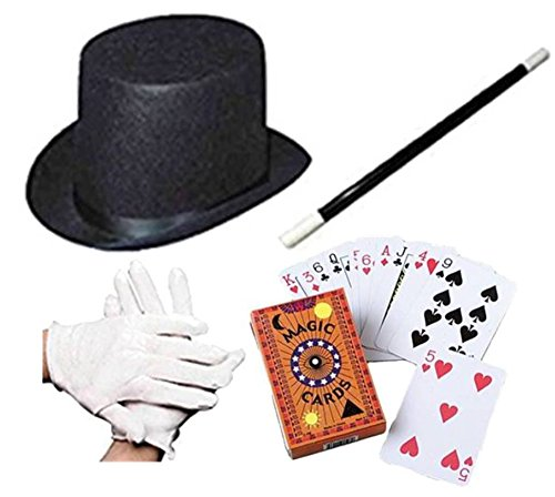 4 Piece Magician Role Play Dress Up (Magic Hat Set)