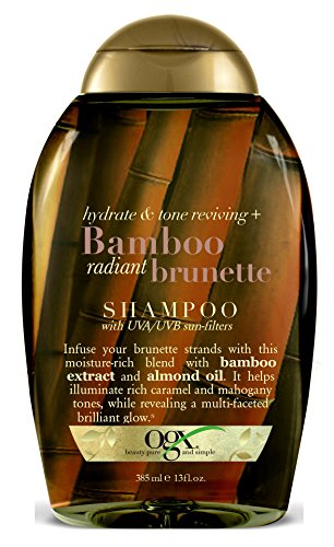 13 Ounce Shampoo (OGX Hydrate & Color Reviving + Bamboo Radiant Brunette Shampoo 13 Ounce)