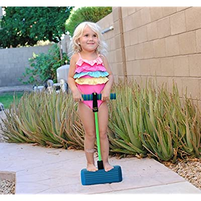 Joyin Toy Foam Pogo Jumper in Easy to Carry Zippered Bag- Safe and Fun Pogo Stick for All, 250 Pound Capacity (blue): Toys & Games