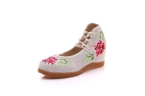 Bordado Zapatos/Alpargatas/ Merceditas/Zapatos de Mujer, Zapatos Bordados, Corbatas de Lino, Zapatos de Novia.: Amazon.es: Zapatos y complementos