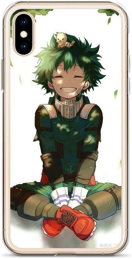 Compatible with iPhone 7/8 Case Izuku Deku Smile My Hero Academia Japanese Anime Pure Clear Phone Cases Cover