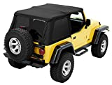 Bestop 56920-17 Black Twill TrekTop NX Replacement Soft Top for 1997-2006 Wrangler TJ