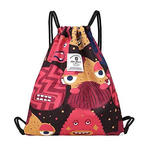Drawstring Bag Dry Wet Floral Backpack Waterproof Lightweight Tote Pool Beach Travel Gym Bags (Ocean Monster)