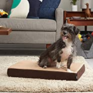 BarkBox Thick Orthopedic Gel Memory Foam Enhanced Dog Bed - Removable Washable Cover, Small, Medium, Large - Free Surprise!