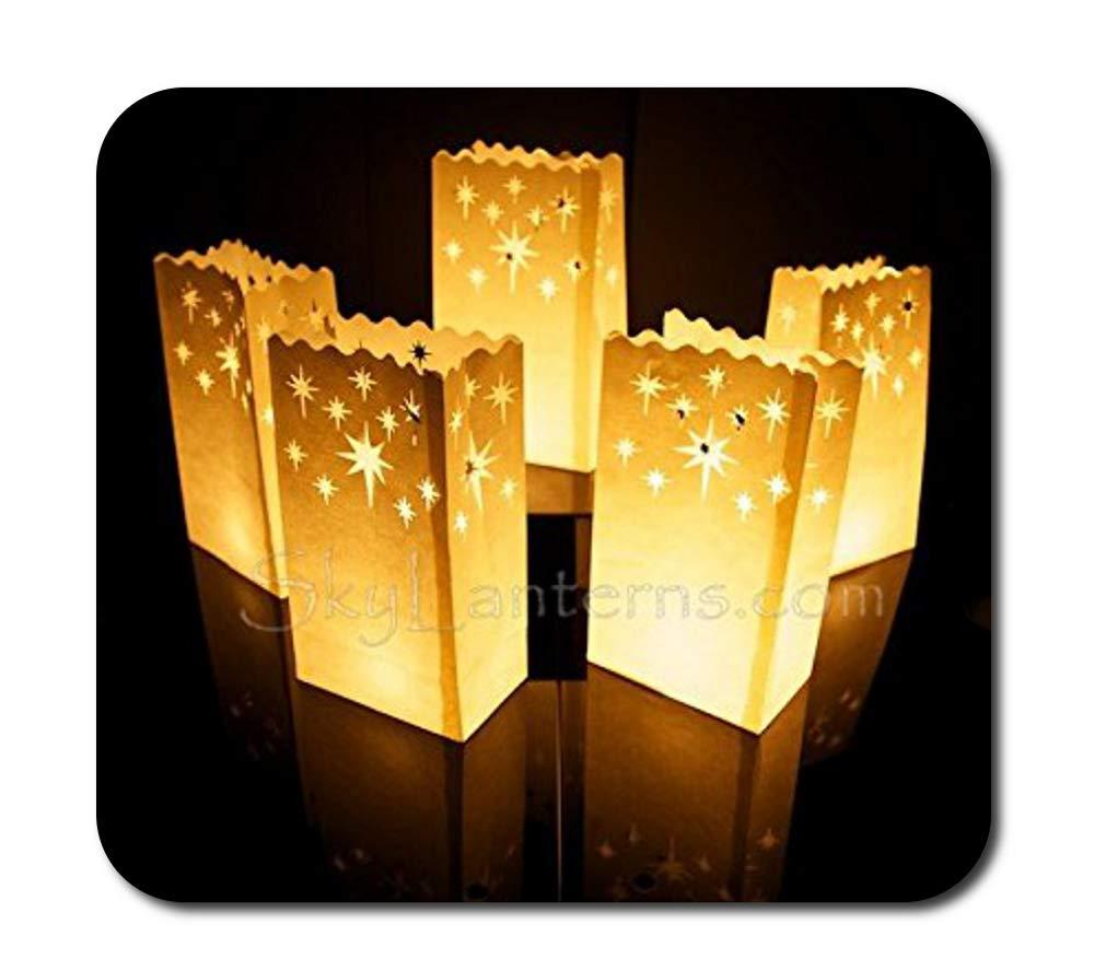 Sacchetti porta candela, confezione da 50 pezzi, motivo: notte stellata Sky Lanterns Ltd