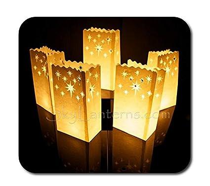 Bolsas decorativas para velas, Linternas de papel bolsas - 50 unidades, diseño noche de estrellas