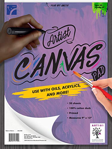 American Educational Products A-A103 Canvas Pad, 9
