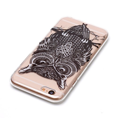 iPhone 6 Plus Hülle Schwarze Eule Premium Handy Tasche Schutz Transparent Schale Für Apple iPhone 6 Plus / 6S Plus + Zwei Geschenk
