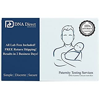 DNA Direct Paternity Test Kit - All Lab Fees & Shipping to Lab Included - Results in 2 Business Days