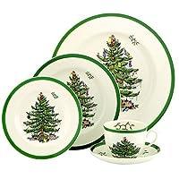 Juego de vajilla Spode Christmas Tree de 5 piezas, servicio para 1