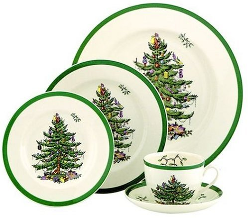 Spode Christmas Tree 5-Piece Dinnerware Set, Service for 1