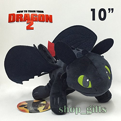 How to Train Your Dragon 2 Toothless Night Fury Plush Soft Toy Stuffed Doll 10