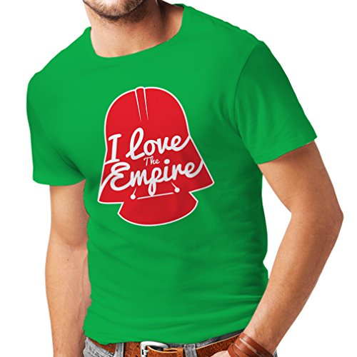N4338 T shirts for men I love the Empire (Medium Green Multi