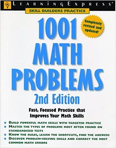 Amazon 1001 math problems learningexpress editors books fandeluxe Image collections